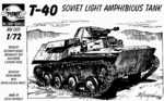 T-40 Soviet light amphibious tank