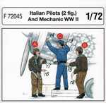 Italian Pilots (2 fig.) And Mechanic WW II