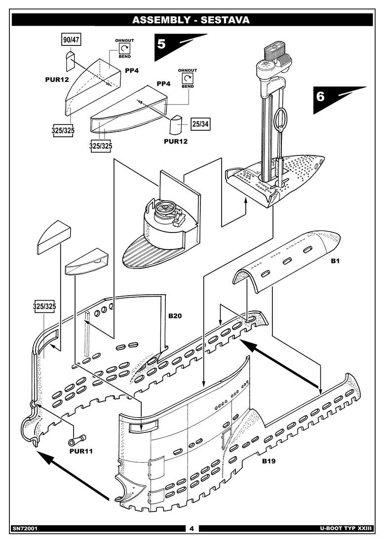 german type xxiii u boat diagram