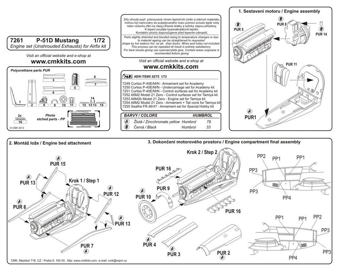 cmk kits eshop P-51 Engine Versions  P -47 Engine B-17 Engine Diagram Fighter Engine Diagram