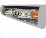 U-Boot IX Rear Torpedo Section+Crew bunk