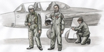 Two Fouga Magister Pilots and a Mechanic for 1/72 SH kit (3fig)