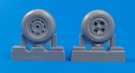 Tempest Mk. II/V/VI- Main wheels late type for 1/32 Special Hobby/Pacific Coast kits