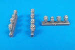 1/32 Universal Pilot Heads – with no head gear (12 pcs)