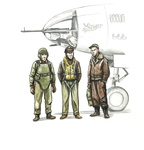 1/72 WWII US bomber pilot and two gunners