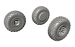 1/72 P-40 Wheels – Cross Tread for Special Hobby kit