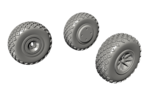 1/72 P-40 Wheels – Diamond and Hole Tread for Special Hobby