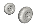 P-51D Mustang - Wheels 1/72 (Diamond Tread Pattern) for Hasegawa/Revell/ HobbyBoss/Tamiya kit