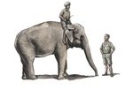 1/48 WWII RAF Mechanic in India+Elephant with Mahout (2 fig. + elephant)