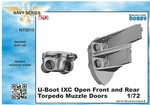 1/72 U-Boot IX Open Front and Rear Torpedo Muzzle Doors, for Revell kit